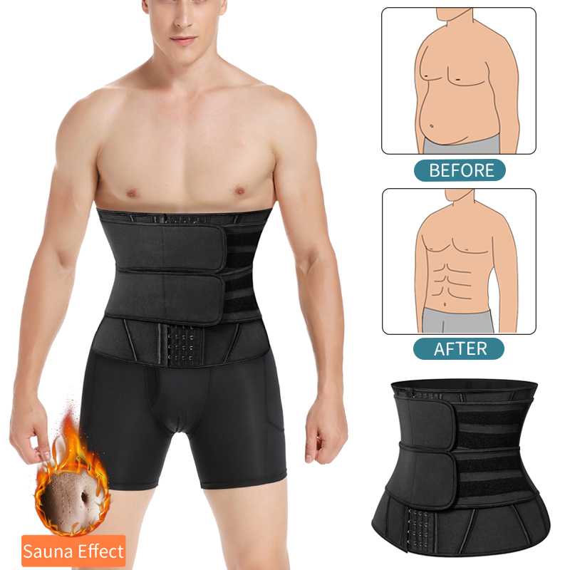 Mens Waist Trainer Weight Loss Body Shaper Belly Shapers Tummy Shapewear Abdomen Slim Girdle Promote Sweat Trimmer Belt Corset