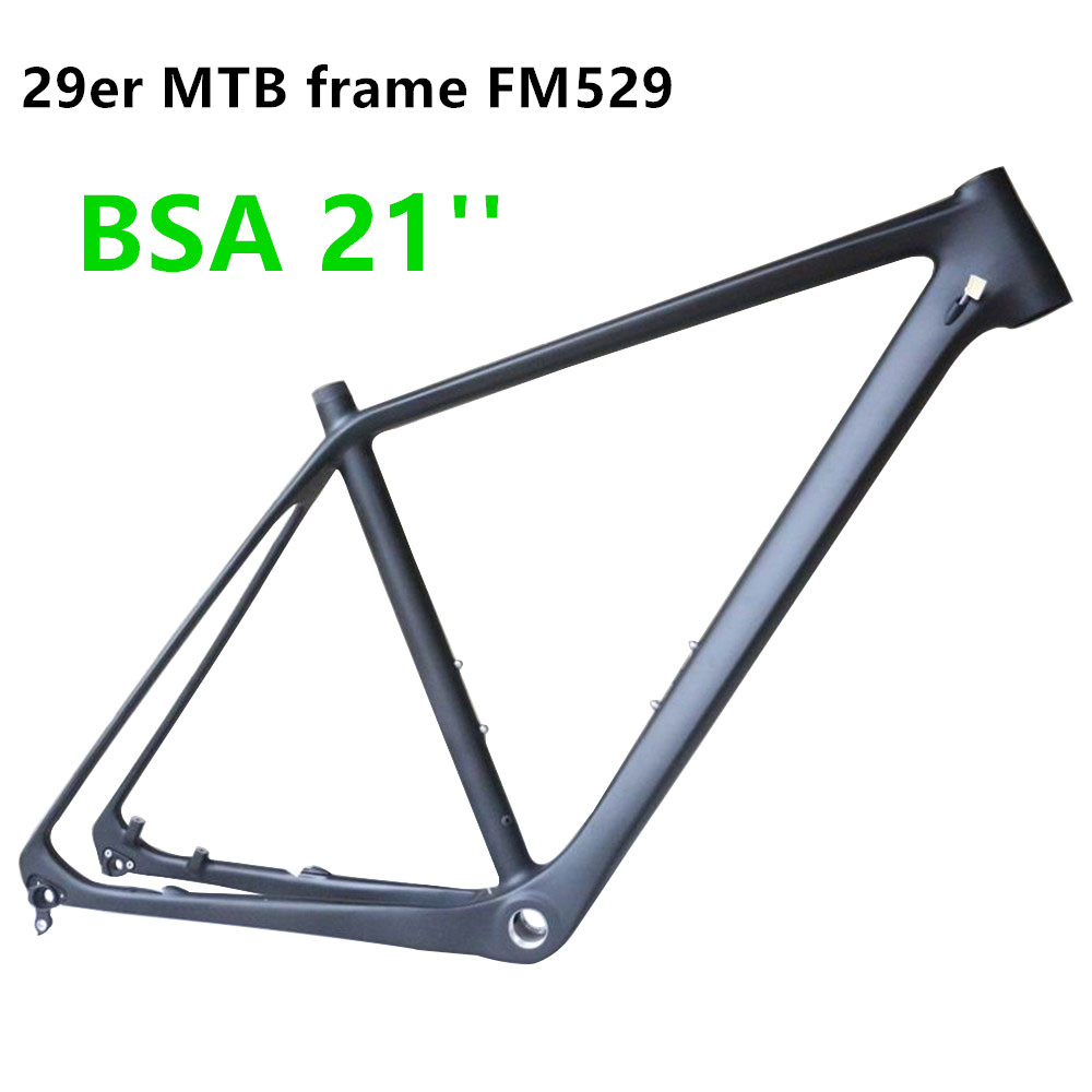 Hight Modulus MTB 29er Frame Toray T700 Carbon Fiber Disc Brakes Di2 And Machine Compatible  Mountain Bike Frame FM529