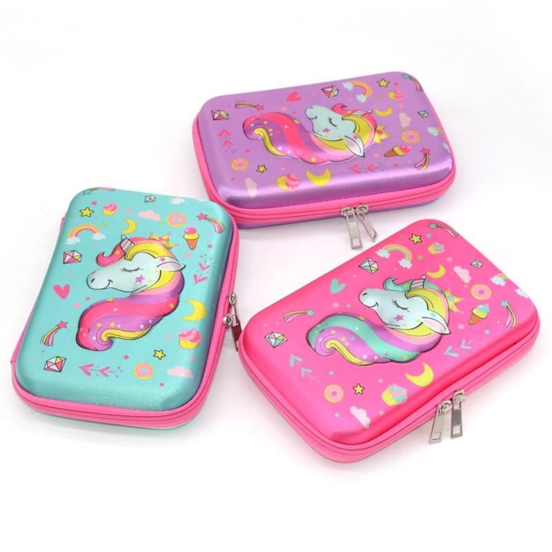 unicorn pencil case Creative school supplies Kawaii estuche escolar trousse scolaire stylo kalem kutusu pencilcase box