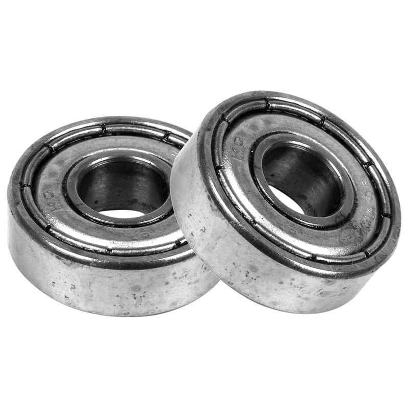 10 pcs 7 x 19 x 6mm Silver Deep Groove Shielded Sealed Ball Bearing 607ZZ