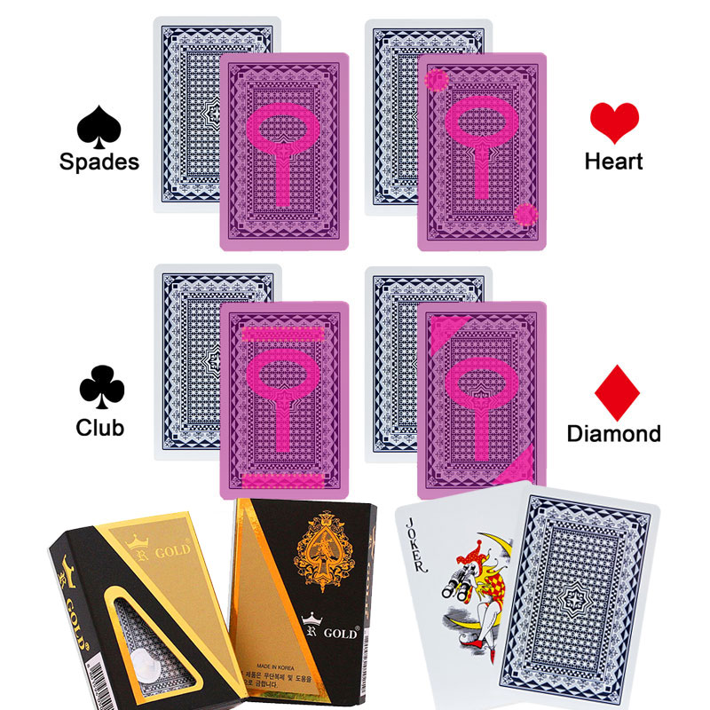 plastic playing card for special contact lenses anti cheat poker GOLD magic tricks marked poker cards anti cheating device