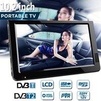10.2 Inch 12V Outdoor Portable Digital Analog Television DVB T / DVB T2 TFT LED HD TV Support TF Card USB Audio Car Television