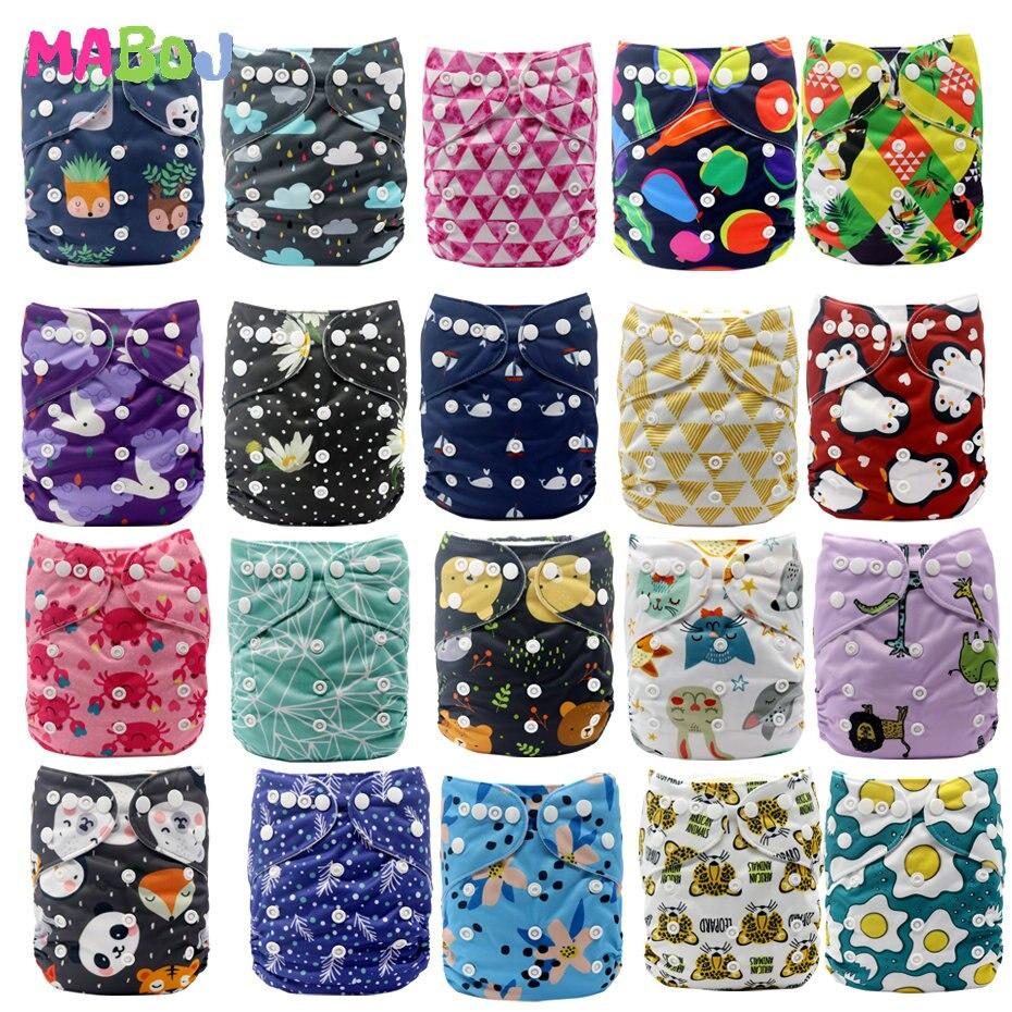Mabox Экологичные многоразовые детские подгузники, моющиеся карманные подгузники одного размера для всех, оптовая продажа 2020