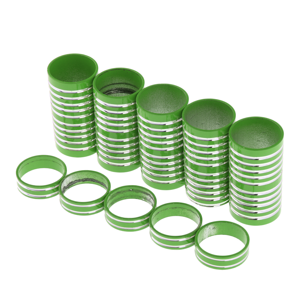 Lightweight Mountain Bicycle Head Tube Washer Bike Stem Headset Spacer Fit 1 1/8-Inch Stem 10mm x 5,60mm x 5 - Color: Green