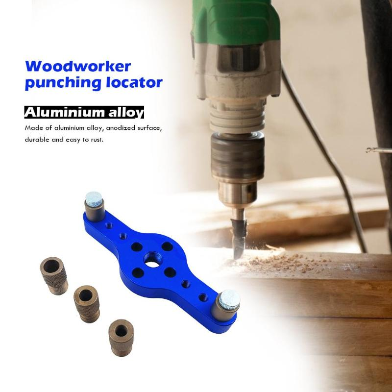 6/8/10mm Wood Dovetail Self Centering Drill Guide Kit Hole Puncher Locator Aluminum Alloy Woodworking Hole Drilling Positioner