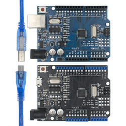 UNO R3 CH340G + MEGA328P SMD чип 16 МГц для Arduino UNO R3 макетная плата USB кабель aega328p один комплект