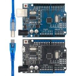 UNO R3 CH340G + MEGA328P puce SMD 16Mhz pour Arduino UNO R3 carte de développement câble USB ATEGA328P un ensemble