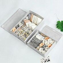 AA Unterwäsche Lagerung Box mit Abdeckung Verdickt Oxford Tuch Waschbar Falten Sparen Raum Bh Organisation Werkzeug