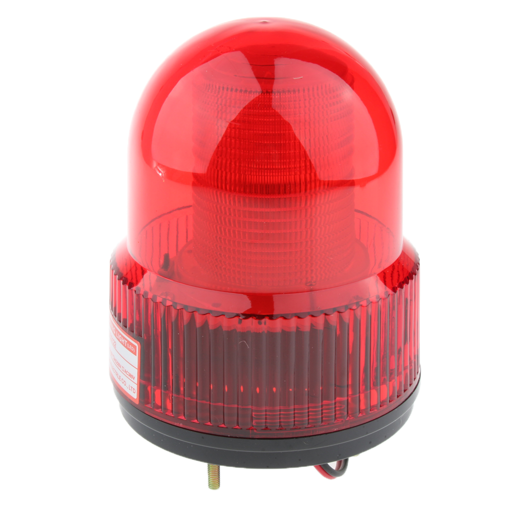 12V LED Strobe Stroboscopic Light Round Signal Beacon Flash Lamp Red