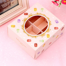 Holiday 20Pcs Macarons Box with Transparent Window Dessert Macarons Pastry Packa