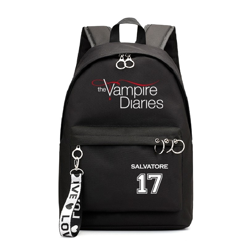 The Vampire Diaries School Bags Teenager Girls Laptop Backpacks Casual Backpacks Outdoor Backpack Women Travel Korean Bag Pack