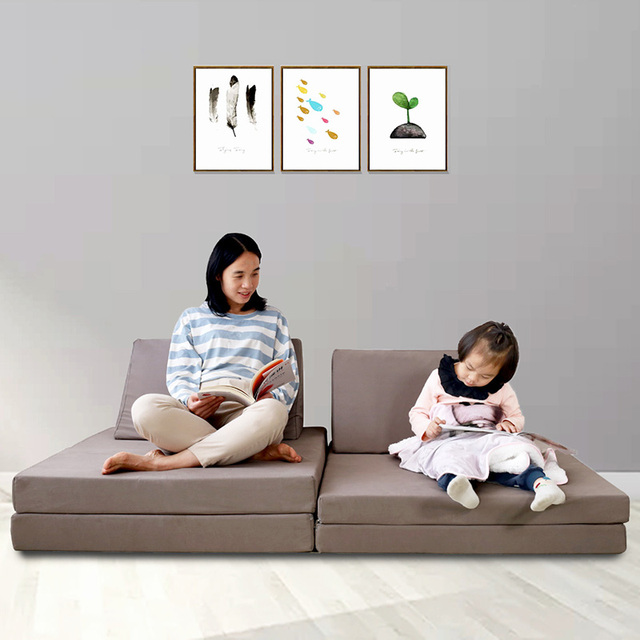 Floor Sofa W/ Multifunctional Folding Cushions 6