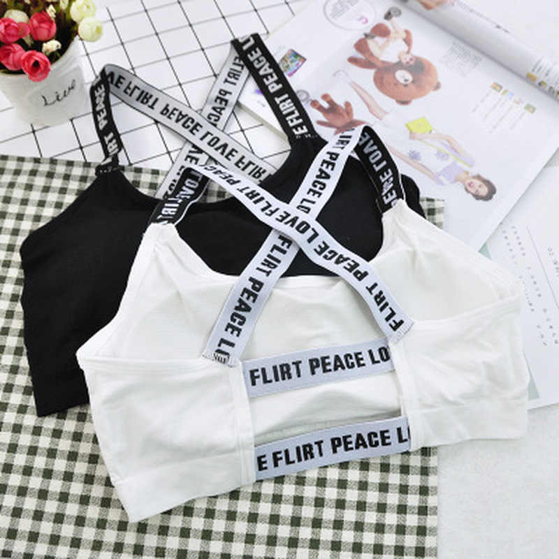 Для женщин спортивный топ для фитнеса топ с надписью спортивный бюстгальтер для йоги с двойными стенками двойные A-D черный, белый цвет Для Бега Йога, тренировки, фитнес укороченный топ Для женщин спортивный пуш-ап бюстгальтер