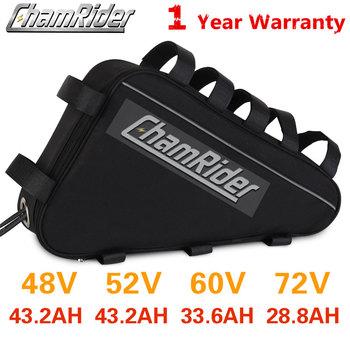 Oryginalna bateria 48V 48V 40AH 52V ebike bateria 36V 50AH trójkąt bateria duża pojemność 1500W Super mocna 21700 komórka Bafang tanie i dobre opinie chamrider CN (pochodzenie) 31-40ah 48 v Lithium Battery