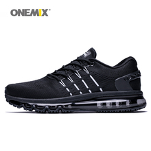 ONEMIX off black men sports cushion shoes running for fitness male walking max big size 36-47.TN