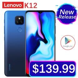 Original Official Lenovo Music Lemon K12 Android 10 Mobile Phone 4GB RAM 64GB ROM 6.5'' Snapdragon 460 5000mAh 48MP Smartphone