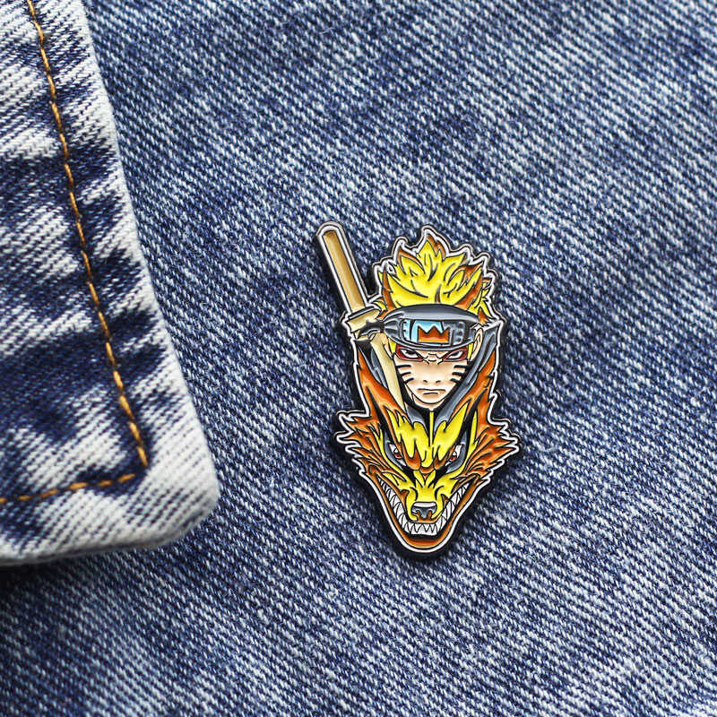 Anime Naruto Cosplay Broche Badge Prop Kurama Metalen Broche Pin Accessoires