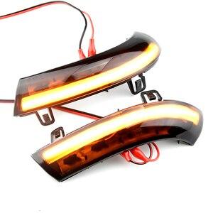 Image 5 - 2 pces para vw golf 5 gti v mk5 jetta passat b5.5 b6 sharan excelente eos dinâmico led turn signal luz lateral asa espelho indicador