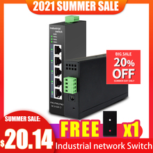 Industrial network Switch with 5 Network 10/100mbps port Base-T DIN IP40 fanless