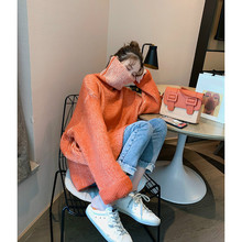 Turtleneck Pullover 2021 New Sweater Korean Casual Large-profile Women