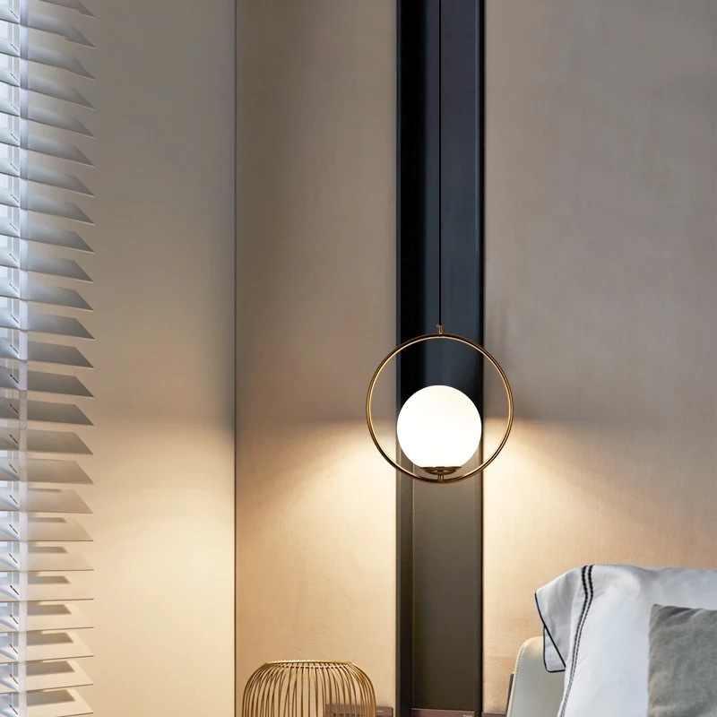 Дропшиппинг нордическая люстра минимализм искусство светодиодный люстры Висячие Стеклянный шар гостиная спальня ресторан освещение для бара дома