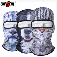 Balaclava Motorcycle Full Face Mask 3D Animal Cat Dog Hats Helmet Windproof Breathable Paintball Snowboard Cycling Ski Men Women