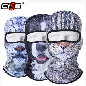 Image 1 - Balaclava Motorcycle Full Face Mask 3D Animal Cat Dog Hats Helmet Windproof Breathable Paintball Snowboard Cycling Ski Men Women
