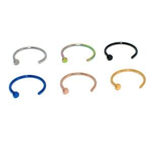 1 шт. u-образное поддельное кольцо для носа, обруч для губ, перегородка, кольца из нержавеющей стали, имитация пирсинга для носа, пирсинг Oreja, п...