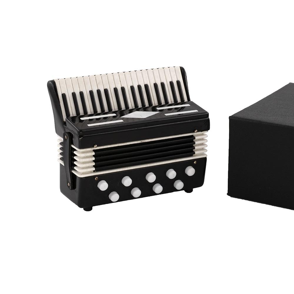 Миниатюрный аккордеон модель мини музыкальный инструмент кукольный домик ob11 1/6 аксессуары для экшн-фигур bjd не поддается падению