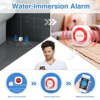 KOOCHUWAH Smart Water Leakage Protection Sensor GSM Wireless Flood Sensor Aqua Auto Call SMS Water Detectors Security for Home