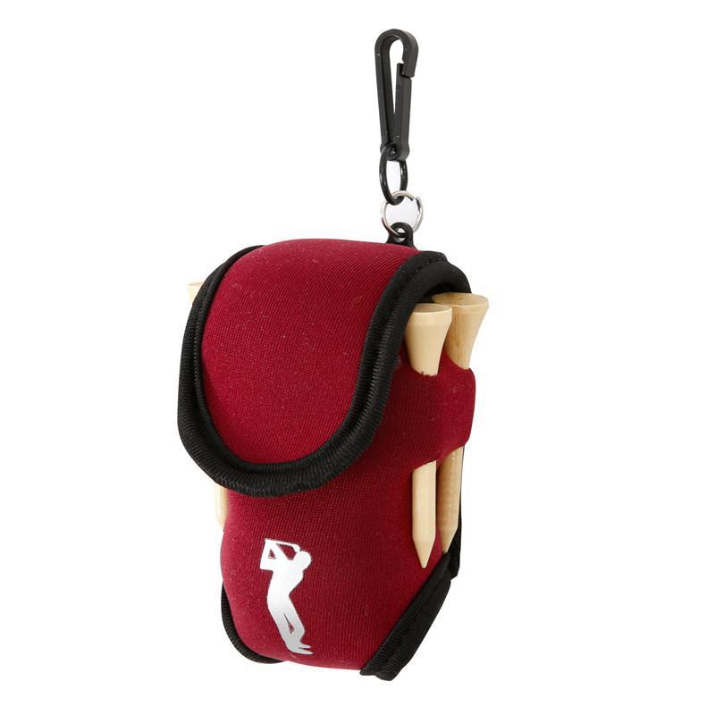 Small Golf Ball Bag Mini Waist Pack Bag 2 Ball + 4 Tee Neoprene Holder Sports Bag On For Outdoor Golf Training Balls Tees Pouch