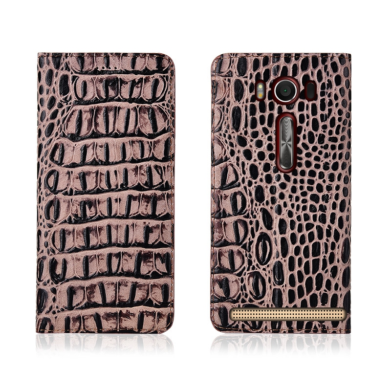 Crocodile Pattern Genuine Leather Flip Phone Case Card Holder For Asus Zenfone 2 Laser ZE601KL/Zenfone 2 Laser ZE550KL Phone Bag  - buy with discount