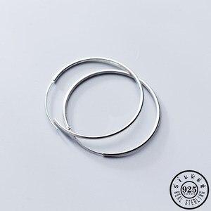 Большие круглые серьги из стерлингового серебра 925 пробы, классические серьги-обручи Huggie, серьги для пирсинга, рождественские украшения для...
