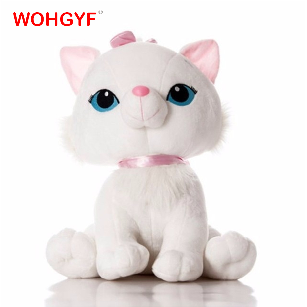 1pc 18cm Kawaii Marie Cat Plush Animals Doll Toys Stuffed Cat with Bowknot Kids Girls Gifts Birthday Gifts