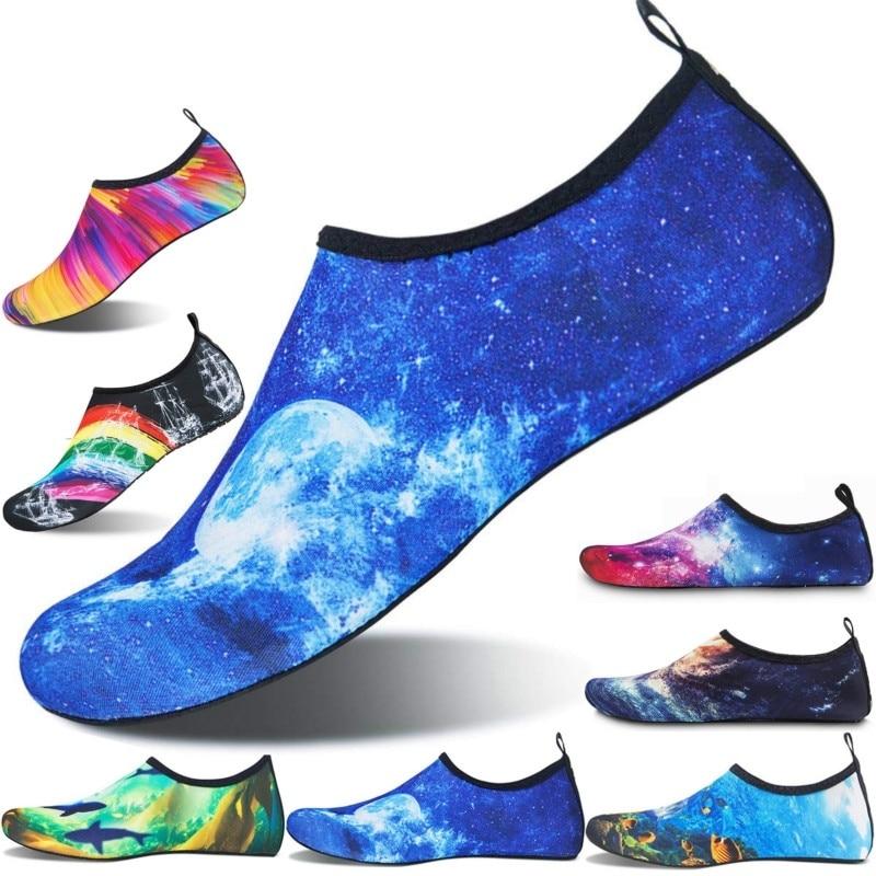 2020 Summer New Barefoot Men Women Quick-Dry Water Lightweight Aqua Socks Yoga Exercise Pool Beach Dance Swim Drawstring Shoes