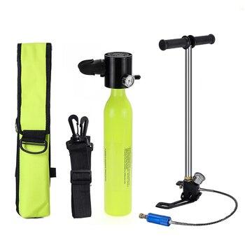 Mini réservoir d'air portatif de cylindre d'oxygène de plongée de 0.5L équipement de plongée pour la pompe de respiration sous-marine de plongée en apnée et le sac de respirateur