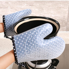 1pc  Silicone Microwave Non-slip Printing Gloves Insulated Kitchen Oven Waterproof Heat Resistant For Baking