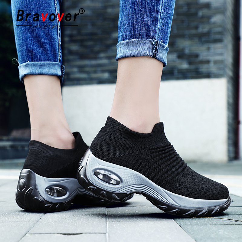 2019Women Sneaker Breathable Light Women Running Shoes Outdoor Walking Cushioning Sport Jogging Shoes Non-slip Sneakers Big Size
