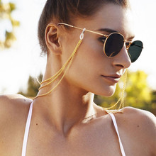 Multilayer Gold Glasses Chains Sunglasses Reading Eyeglasses Lanyards Holder Cord Neck Strap