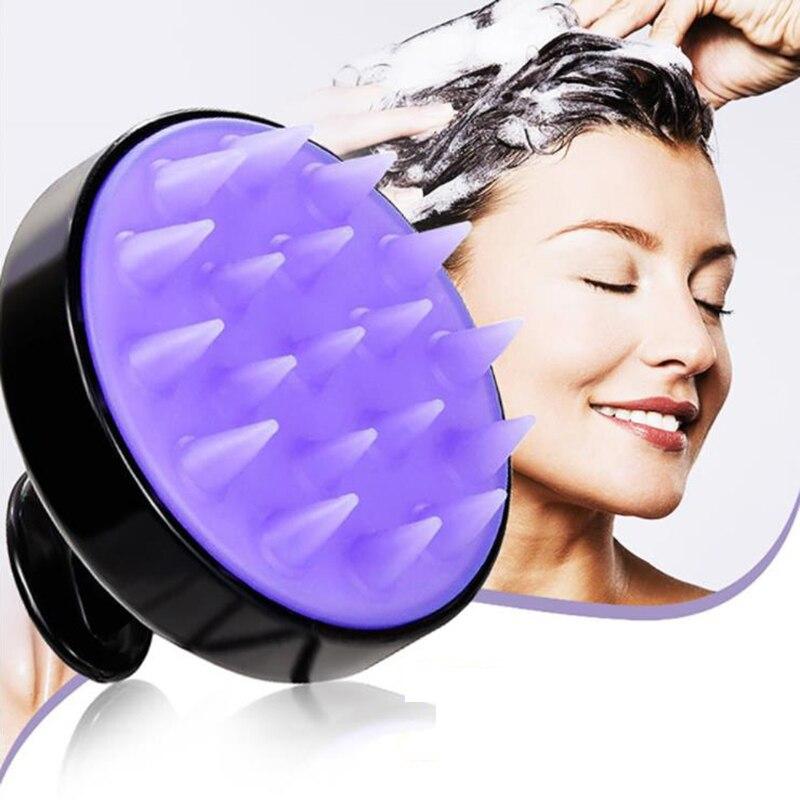 Silicone Head Body Scalp Massage Brush Shampoo Hair Washing Clean Comb Shower Bath Spa Slimming Massage Health Beauty Brush