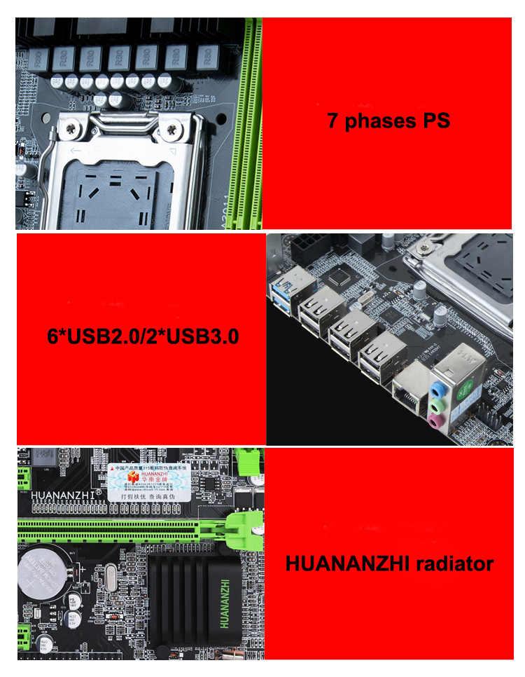 Beroemde merk moederbord op koop HUANAN ZHI X79 LGA2011 moederbord met CPU Intel xeon E5 2620 V2 RAM 8G DDR3 1600 REG ECC