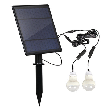 LED solar bulb light outdoor waterproof emergency projection light portable camping garden decoration solar light