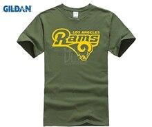 Blue T-Shirt LA Ram Footballer Fan All Sizes S-2XL Summer Fashion Funny Print T-Shirts T Shirt Short Sleeve Tops