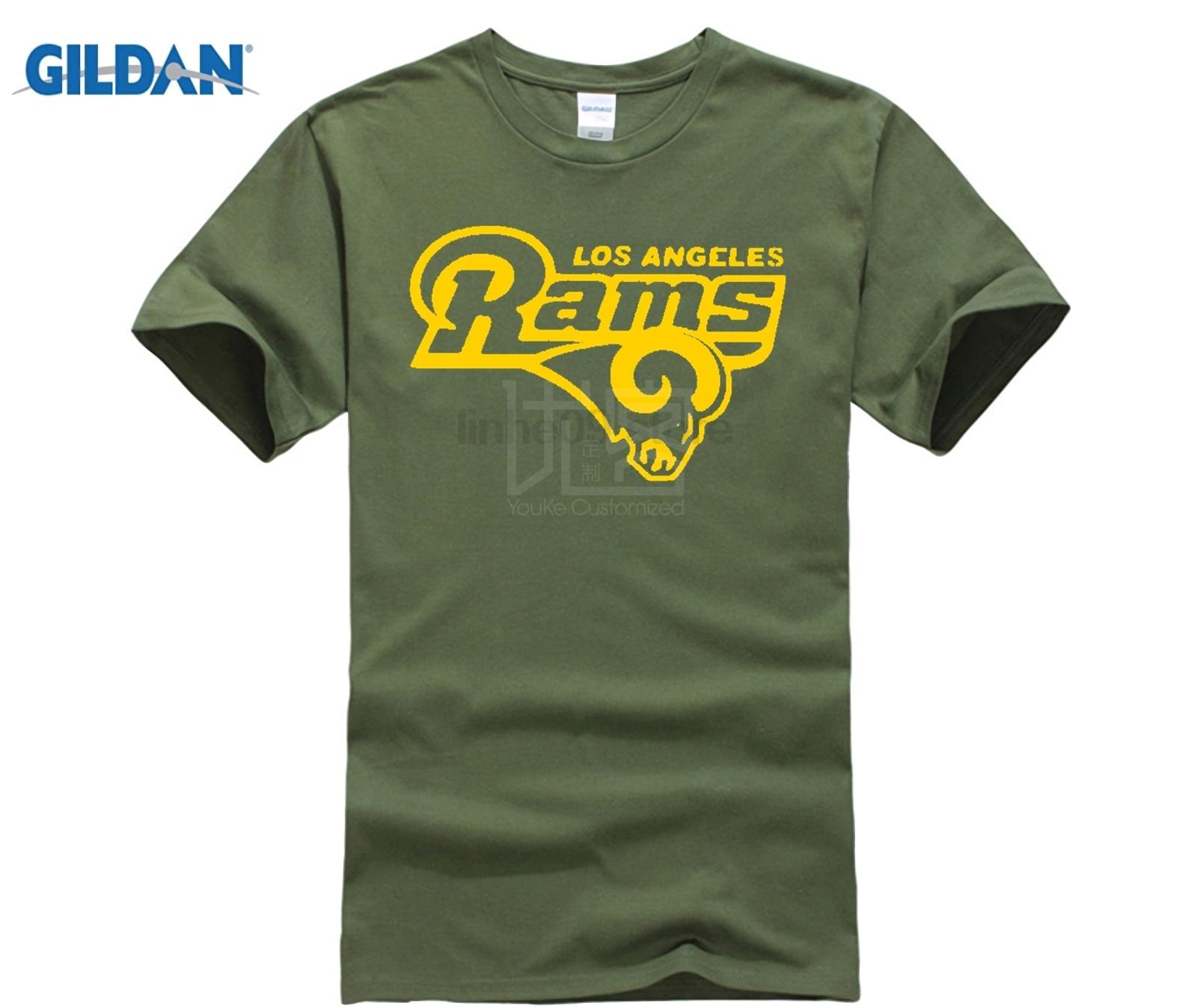 T-Shirt bleu LA Ram footballeur Fan toutes les tailles S-2XL mode d'été drôle impression T-Shirts T Shirt à manches courtes hauts