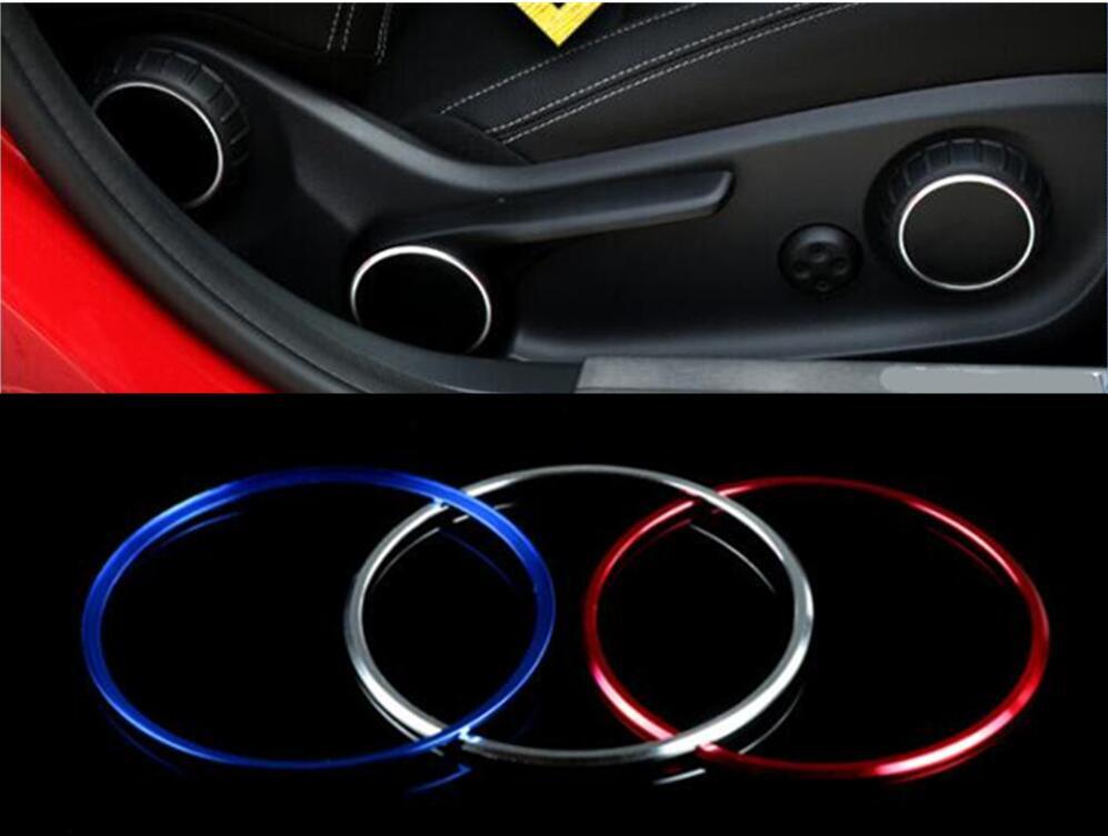 Переключатель регулировки сиденья для Mercedes Benz A B GLA CLA Class W176 W117 W246 C117 A180 et, 3 цвета, украшение, отделка кольца, Стайлинг автомобиля