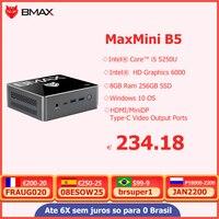 BMAX B5 Mini PC Intel Core 8GB RAM 256GB 512GB SSD i5-5250U Dual Core Mini computadora de escritorio PC Intel Gráficos HD 6000 WIFI Win10