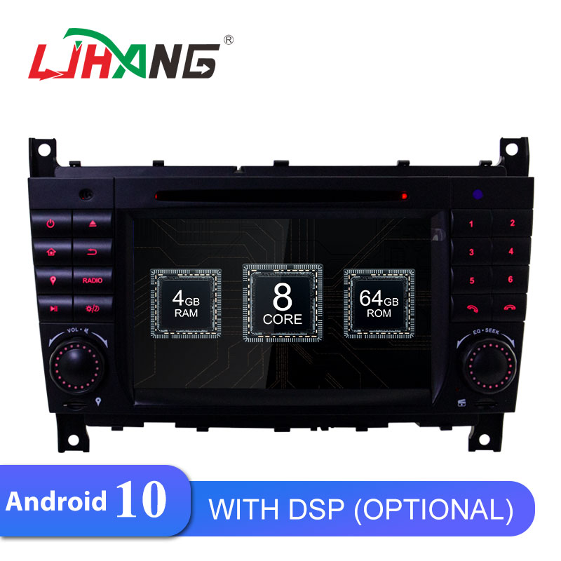 LJHANG 2 Din Car DVD Multimedia Player Android 10 For Mercedes <font><b>Benz</b></font> <font><b>W203</b></font> CLK200 CLK22 C180 C200 GPS <font><b>Navi</b></font> WIFI Car <font><b>Radio</b></font> stereo image
