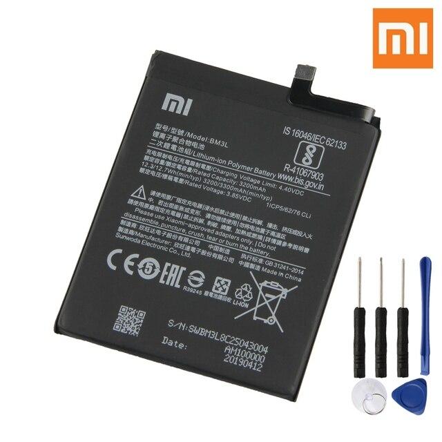 Bateria recarregável genuína 3300 mah da bateria do telefone da substituição original bm3l de xiao mi 9 9 m9 mi 9 bm3l