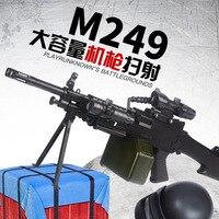 M249 Chicken Celebrity Style Electric Firing Machine Guns Emission Water Gun Battle Boy CHILDREN'S Toy