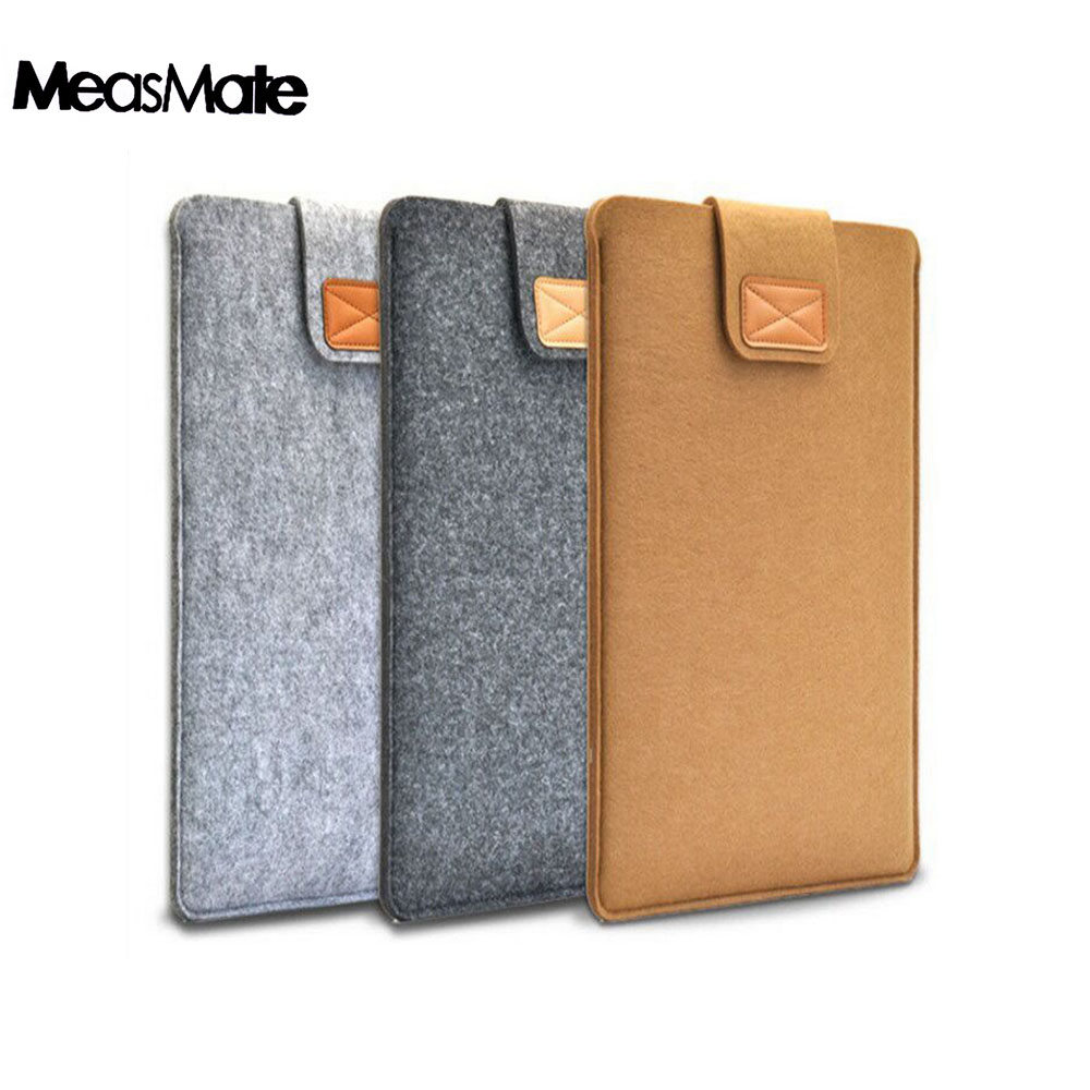 8inch 10inch Soft Sleeve Bag Case for iPad 2 3 <font><b>4</b></font> Notebook Cover for iPad Air <font><b>1</b></font> 2 mini <font><b>1</b></font> 2 3 <font><b>4</b></font> 5 Fashion Pure Felt for Tablet image